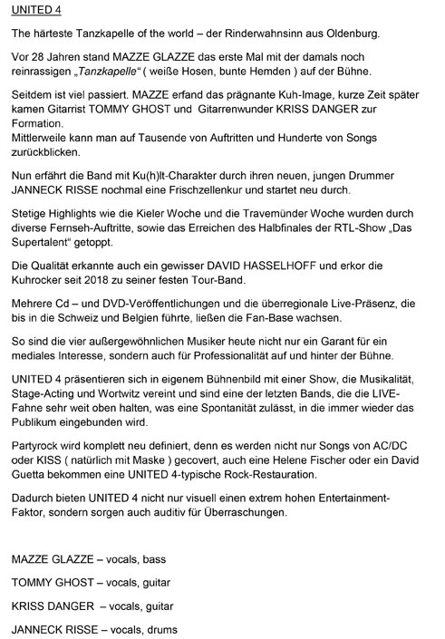 UNITED FOUR Pressetext 2019-1